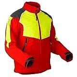 Pfanner Schnittschutz Jacke Baumpfleger Klasse 1, Farbe:rot, Größe:XL