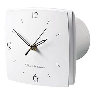 Aeropush Design-Abluftventilator mit Nachlauftimer und Uhr