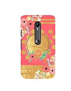 Citydreamz Floral Print Hard Polycarbonate Designer Back Case Cover For Motorola Moto X Style