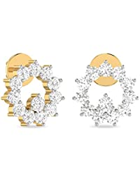 PC Jeweller The Xiona 18KT Yellow Gold & Diamond Earring