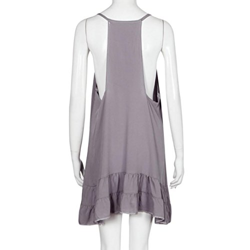 FEITONG Plage Mini Robe courte Femmes Summer Casual manches Party Soirée Violet