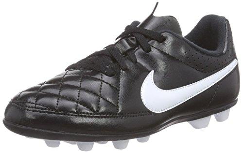 Nike - Tiempo Rio Ii Fg-R, Scarpe Da Calcio infantile Bianco (Weiß (Black/White))