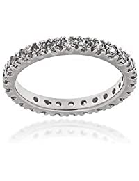 Gioiello Italiano - Eternity Band Ring in Silber mit Zirkonia