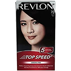 Revlon Top Speed Hair Color Woman, Natural Black 70, 100 g