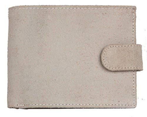 Tillberg Light beige Nearly White Rough Genuine Leather Wallet, Herren Herren-Geldbörse Beige beige Einheitsgröße