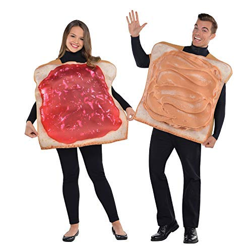Couples Ladies Mens Funny Peanut Butter & Jelly Jam Comedy Novelty Fancy Dress Costume - Peanut Butter Kostüm