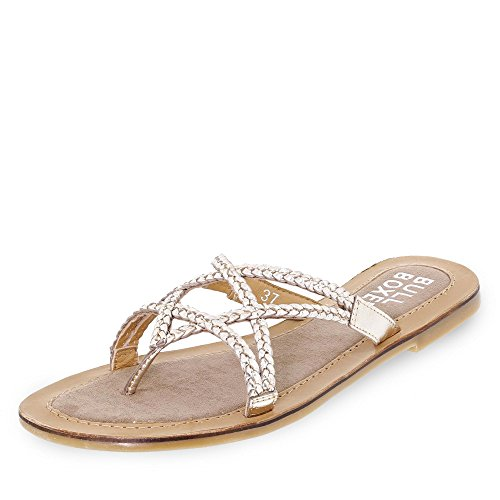 BULLBOXER Damen 308005i1l Slipper Silber (Platinum)