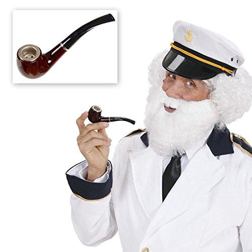 Friedenspfeife Pfeife Detektiv Accessoires Schnüffler Kostüm Zubehör Sherlock Holmes Peifenimitat Fasching Karneval