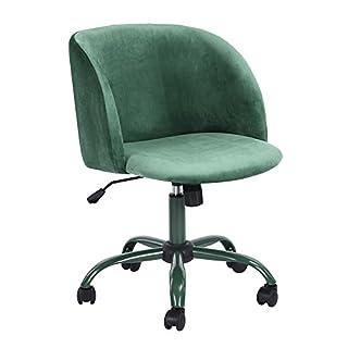 Aingoo Samt Designer Gepolstert Freizeit Bürostuhl Drehstuhl höhenverstellbar und drehbar -Schreibtischstuhl Wohnzimmerstuhl (Stoff Stuhl Grün)