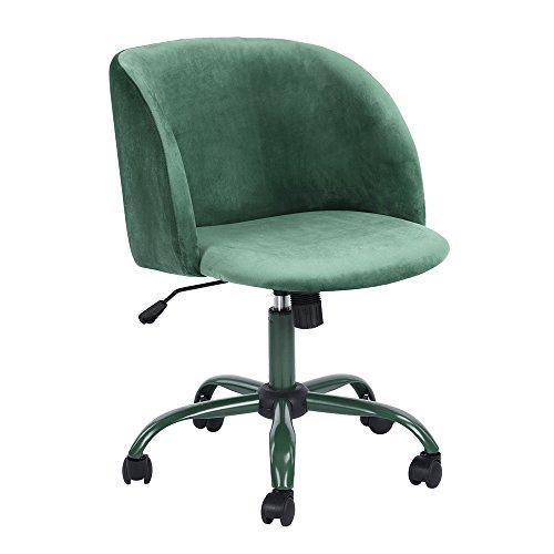 Aingoo Samt Designer Gepolstert Freizeit Bürostuhl Drehstuhl höhenverstellbar und drehbar...