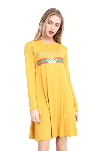 Zaif & Hari - Top à manches longues - Femme Mustard Royalty