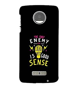 FUSON Chief Enemy Good Sense 3D Hard Polycarbonate Designer Back Case Cover for Motorola Moto Z :: Motorola Moto Z Droid in USA