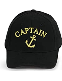 Capitaine Bonnet Casquette Captain Ancient Mariner, Captain Cabin Boy Crew First Mate Yachting Baseball Bonnet Inscription Inscription Blanc Noir Blanc Rouge Army Military Casquette Security