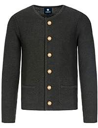 Almbock Strickjacke Herren - Cardigan für Männer in schwarz-anthrazit, braun, grau - Trachten Strickjacke - Größen S, M, L, XL, XXL, XXXL