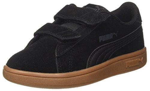 Puma Unisex-Kinder Smash v2 SD V PS Sneaker, Schwarz Black-Asphalt, 35 EU