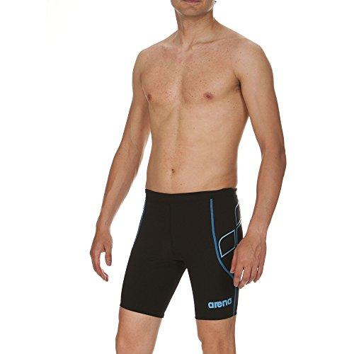 arena Herren Triathlon Jammer Powerskin ST (Schnelltrocknend, Perfekte Kompression, Weniger Wasserwiderstand), Black-Turquoise (55), XL