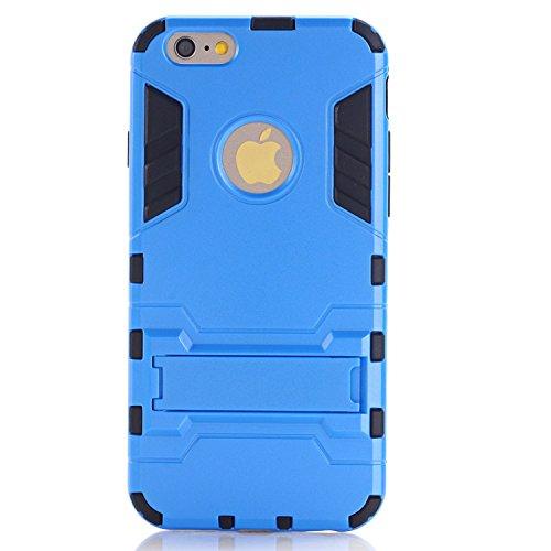 Guran Hülle Für Xiaomi Mi 4i [Stoßfestes Etui] Raffinierte Kombination aus Rutschfestem TPU Zubehör mit Standhalter Ganzkörper-Rugged Case (Blau)