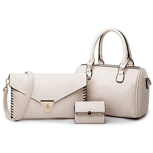 Mefly Drei Sätze Der Bag Kissen Geprägte Composite Tasche Tragbare Schulter Kuriertasche White