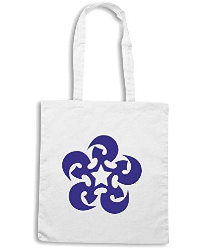 T-Shirtshock - Borsa Shopping FUN0464 2301 tribal sticker design 33 33946 Bianco