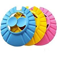 Aditi fashion Adjustable Safe Soft Bathing Baby Shower Cap Wash Hair For Children Baby Eye Ear Protector Adjustable…