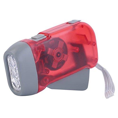 Tragbare myfei 3LED Dynamo-Taschenlampe, Mini, Griff, Taschenlampe mit für Reisen Camping Licht Taschenlampe für Zuhause, rot