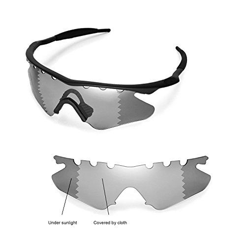 Walleva Entlüftete Ersatzgläser für Oakley M Frame Heater Sonnenbrille - Mehrfache Optionen (übergang / photochrom - Polarisiert)