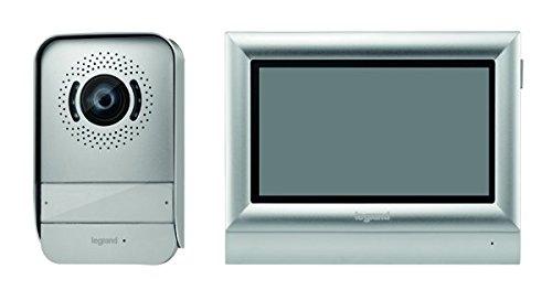 Legrand, Video-Türsprechanlage mit 2-Draht-Anschluss, 7 Zoll Farb-Touchscreen und Weitwinkelkamera, 1-/2-Familienhaus-Set, 369320