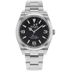 Rolex Explorer 214270Acero Inoxidable automático reloj para hombre