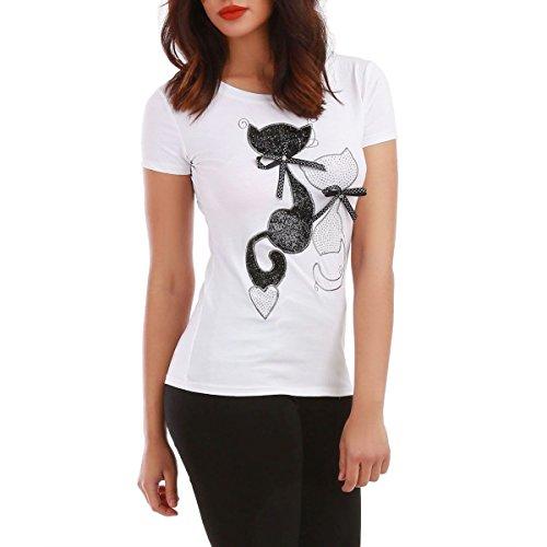 La Modeuse - T-shirt manches courtes Blanc