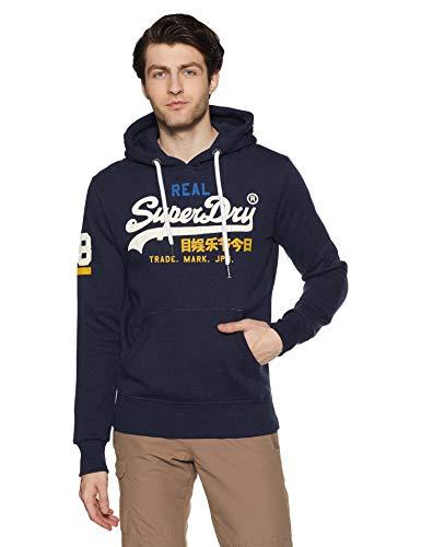 Superdry Vintage Logo Tri Hood, Pull Homme, Bleu (Montana Blue Grit Uj1), Larg
