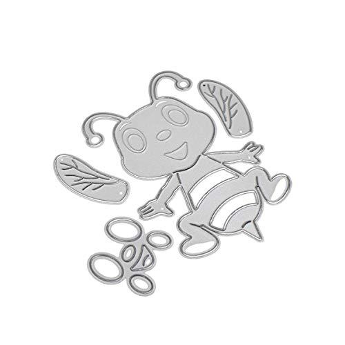 Stanzschablone aus Metall, für Scrapbooking, Prägung, Album, Papier, Karten, Bastelarbeiten, Werkzeug (Biene A:81 x 77 mm)