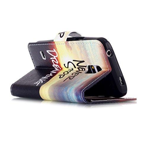 Custodia Apple iphone 5C Book Style design portafoglio Wallet CASO,Pelle PU Flip protettivo Pocket Case Cover per iphone 5C(retr¨° fiore) mai smettere