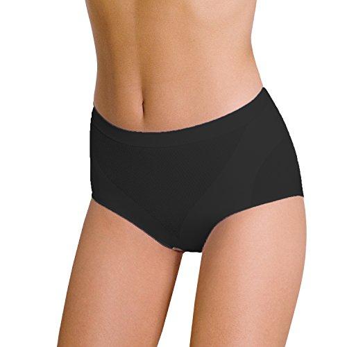 slip donna contenitivo POMPEA modella e contiene senza cuciture (L-XL, NERO)