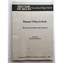 Roman Villas in Italy: Recent Excavations and Research (Occasional Paper)