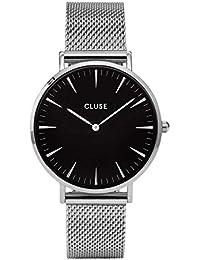 Cluse Unisex-Armbanduhr Analog Quarz Edelstahl CL18106