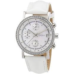 DKNY Women's Quartz Watch Lexington Chrono NY8341 with Leather Strap