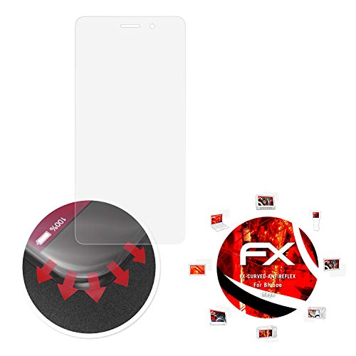 atFolix Schutzfolie passend für Bluboo Maya Folie, entspiegelnde & Flexible FX Bildschirmschutzfolie (3X)