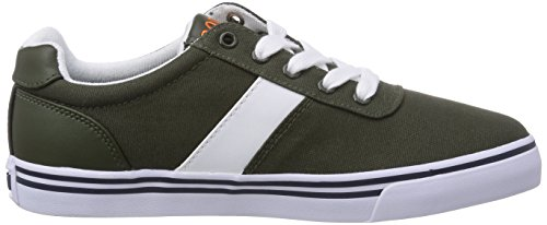 Polo Ralph Lauren Hanford, Baskets Basses garçon Vert - Grün (Army Canvas/Orange)