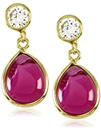 Córdoba Jewels | Pendientes en plata de Ley 925. Diseño Zirconium Luxury Rubí