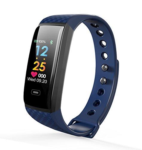 Fitness-Tracker Antaris - Blutdruck-Messung, Herzfrequenz-anzeige (Pulsmesser), Schrittzähler und Schlafanalyse | Wasserfest und Wecker
