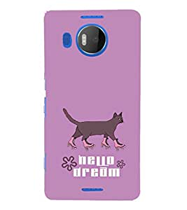 EPICCASE Hello Dream Mobile Back Case Cover For Microsoft Lumia 950 XL (Designer Case)