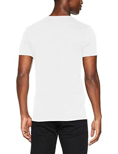 Lacoste Herren T-Shirt Multicolore (Blanc/Marine)