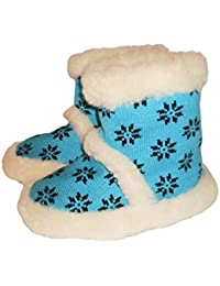 'Marited' 100% LAINE CHAUSSONS PANTOUFLES / TURQUOISE /