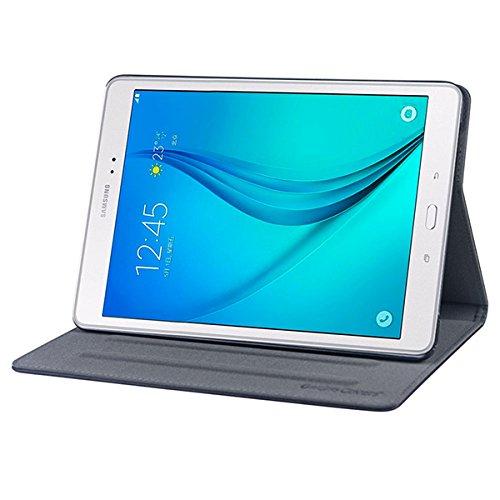 Gecko Samsung Galaxy Tab A 9.7 Hülle Easy-click - Schwarz - Multifunktionelle Tasche bietet Schutz und Multimedia-Komfort / Cover mit Präsentationsfunktion - Tablethülle geeignet für Samsung Galaxy Tab A T550N / T555N (9.7