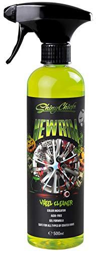 (ShinyChiefs NEWRIM Felgenreiniger, säurefrei für Alufelgen, für empfindliche lackierte und pulverbeschichtete Felgen, Autopflege, ideal zur Fahrzeugaufbereitung, 500ml (1 STK Halloween Edition))