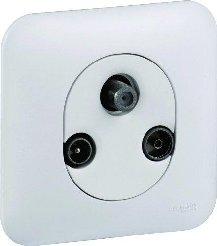 Preisvergleich Produktbild Schneider Electric Steckdose SC5S262461 TV, FM, SAT, Ovalis, komplett