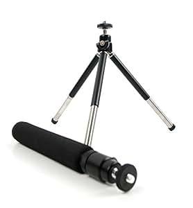 Trépied/Perche Selfie 2 en 1 extensible pour Nikon Coolpix P610 et L840, Canon PowerShot SX410 IS et Pentax XG-1 appareils photo Bridge - pieds solides par DURAGADGET