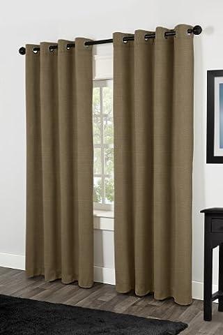 Exclusive Home Curtains Villamora Textured Linen Look Grommet Top Window