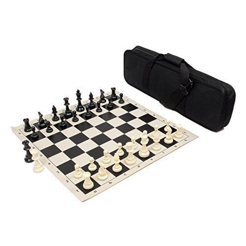 Heavy Tournament Triple Weighted Chess Set Combo - Black by Wholesale Chess (Black Chess Set)