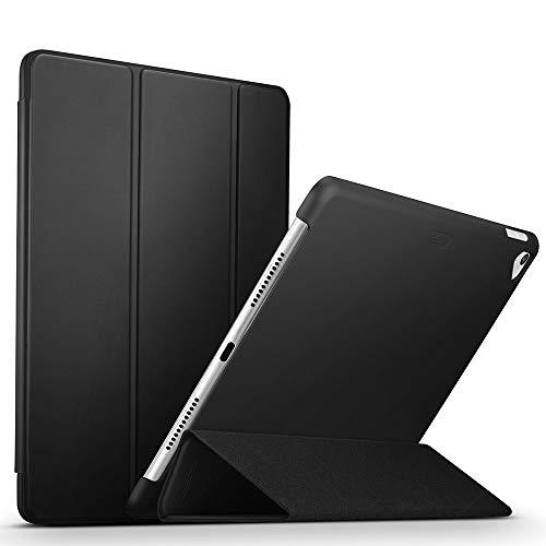 ESR iPad Pro 9.7 Hülle, [Rubberized/Gummiert] PU Ledertasche Auto Aufwachen/Schlaf Funktion Schutzhülle mit Gummi-Spray für iPad Pro 9.7 (Schwarz)